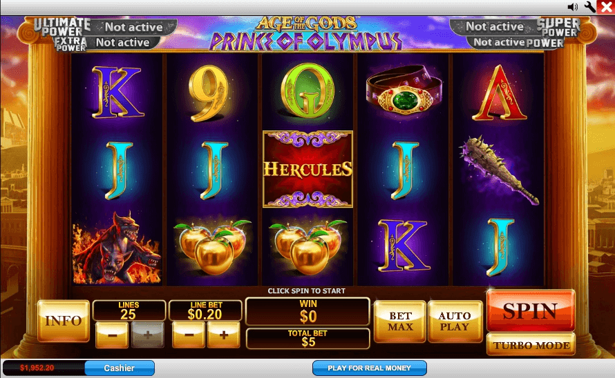 Age Of The Gods: Prince Of Olympus Slot Machine